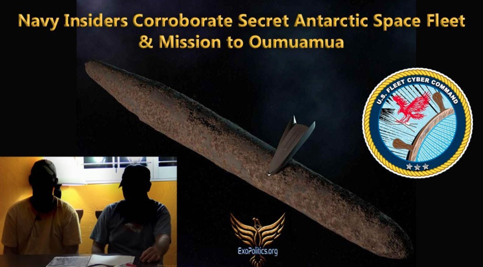 Informatorzy w Marynarce Wojennej USA potwierdzają istnienie tajnej floty kosmicznej na Antarktydzie i misję do Oumuamua.